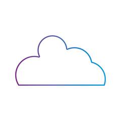 line nice cloud natural weather design