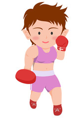 ボクシング 右アッパー 女子