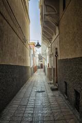Narrow street in Morocco