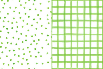 Set of two watercolor seamless patterns
