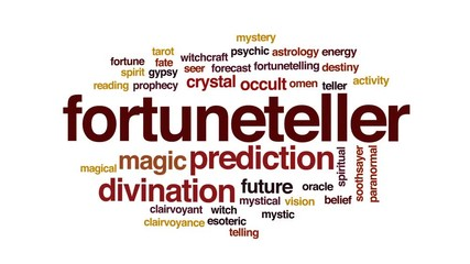 Fortuneteller word cloud - Buy this stock illustration and explore