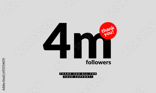 4 million followers thank you all for your support vector design