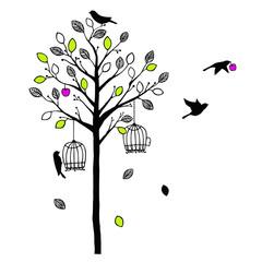 木と鳥 Vivid