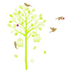 木と鳥 Natural