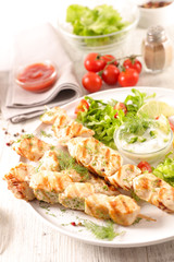 grilled chicken with salad