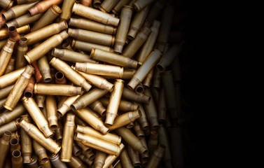 Shotgun cartridges close-up background