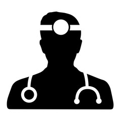 Doctor black vector icon
