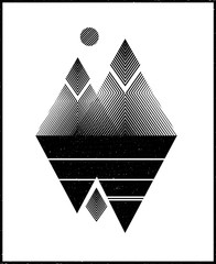 Abstract mountains. Concepts picture. Vector illustration.