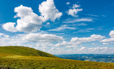 beautiful cloudscape over the mountain meadow