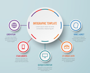 Obraz Vector business infographic elements with steps and options - fototapety do salonu