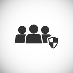 People Icon work group Team Vector , Shield and Protect