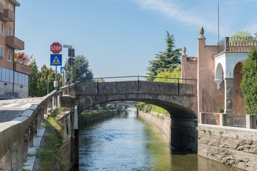 Naviglio Martesana in Lombardy, Italy is a canal from Milan to the River Adda with a cycling lane