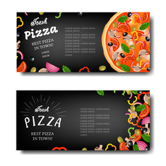 Pizza Banner With Black Background