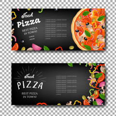 Pizza Banner Isolated