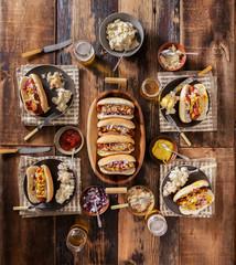 Gourmet Hotdog Dinner Party