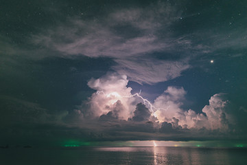 Storm at night