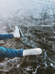 Skating on a Frozen Lake