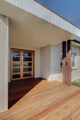 Entrance to a modern home
