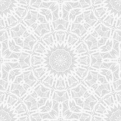 Foto auf AluDibond Boho-Stil decorative seamless background with lace floral ornament. vector illustration. white color. for invitation card, wallpaper, fabric, background
