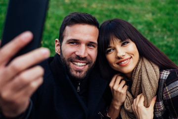 Couple Taking Selfies