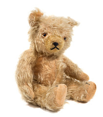alter antiker Teddybär um 1920, vintage Toy