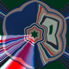 Abstract image, colorful graphics, tapestry,
