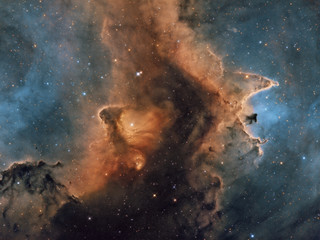 A creative image of space IC1871 part of the Soul nebula