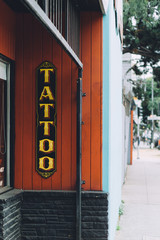 Tattoo shop signage