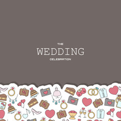 Wedding vector background