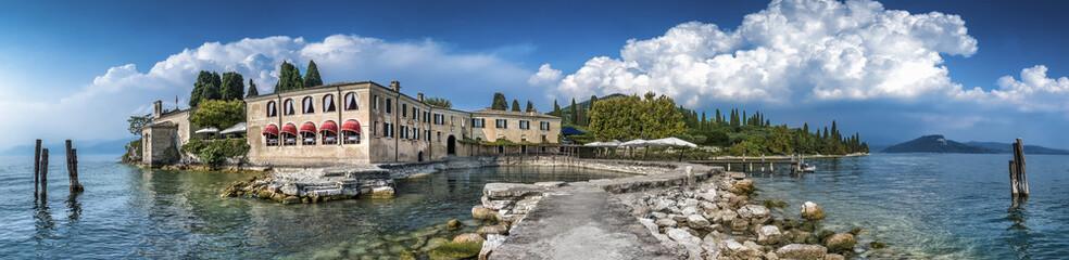Beautiful Punta San Vigilio at lake Garda in Italy