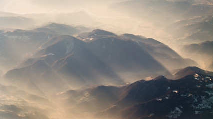 Magnificent Mountains Covered In Fog