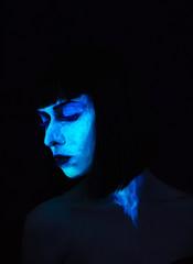 Fluorescent Woman Portrait