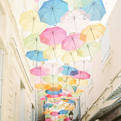 Colourful Umbrellas in France