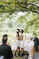 Lesbian kissing at Wedding