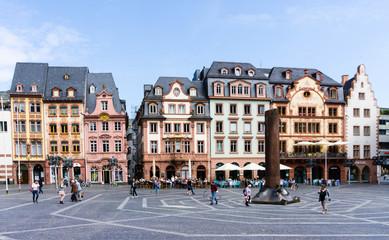 Mainz Marktplatz Innenstadt Altstadt neunensäule
