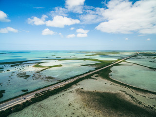 Aerial drone photo of Florida Keys