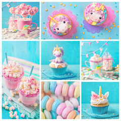 Unicorn sweets for a party