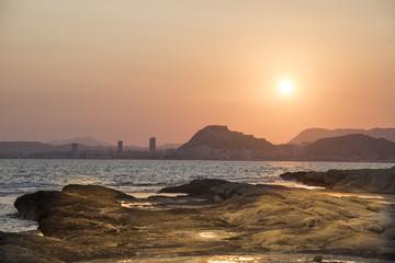 Puesta de Sol enm el  Cabo de Huertas, Alicante, Spain
