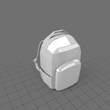 Geometric hardside backpack