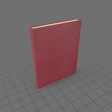 Closed hardcover book 2