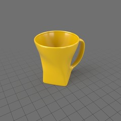 Modern yellow coffee cup 1