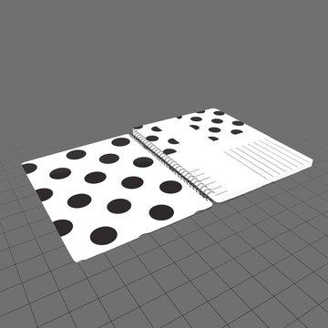 Polkadot spiral notebook
