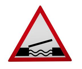 Verkehrszeichen: Bewegliche Brücke