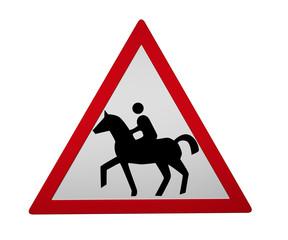 Verkehrszeichen: Reiter