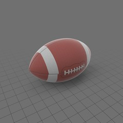 Football with wide stripe
