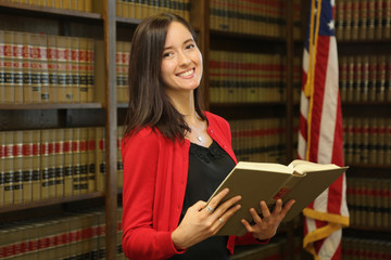 Portrait of a professional woman, Woman Lawyer in Law Office
