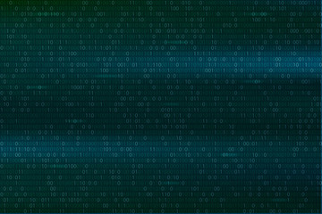 Abstract Binary Code Background Digital Technology Wallpaper Cyber