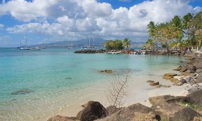 Les Trois Ilets - Anse Mitan - Fort-de-France - Martinique - Tropical island of Caribbean sea