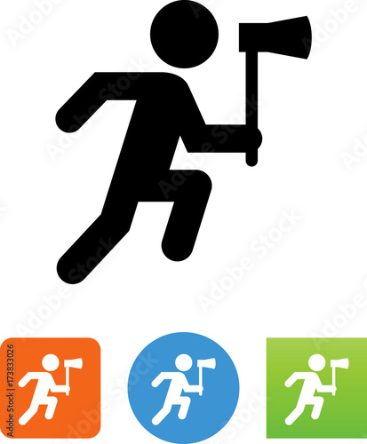 hatchet man icon stock image and royalty free vector files on
