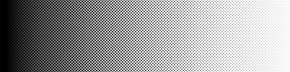 Seamless Screentone Graphics_Halftone Gradation_Black Square Dots